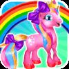 Rainbow Cute Pony Caring