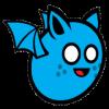 Blue Flying Bat