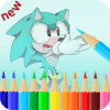 coloring sonic