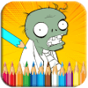 Coloring Plants Zombies Game