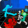 Stickman Neon Warriors Street Fighting