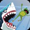 Amazing Frog Fight Shark  Game Adventure