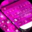 粉红色霓虹灯塑料键盘