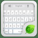 GO Keyboard Flat White Theme