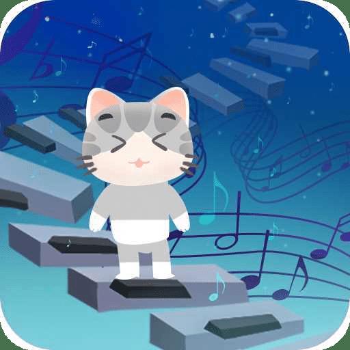 猫咪钢琴方块