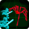 Stickman Neon Warriors: Spiders Battle