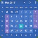 行事历小工具 (Calendar widget)