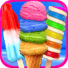 Rainbow Ice Cream & Popsicles