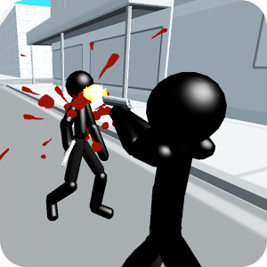 在三维城市火柴人射击游戏