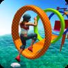 水 公园 游戏: 特技 人 跑