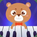 亲亲熊学弹琴