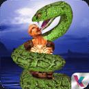 野生蟒蛇蛇攻击3D