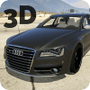 S8 Driving Audi Winter 3D