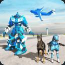 美国警察机器人狗-警察飞机运输游戏