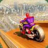 Super Hero Bike Mega Ramp Impossible Stunts Racing