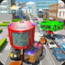 消防救援吉普车:城市救护车司机_3D