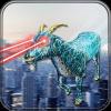 飞行机器人山羊 - 超级英雄激光眼3D攻击
