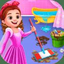 公主宝贝打扫房间